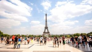 eiffel tower view from Trocadero